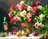 R-N7.2 X151  Diamond Painting Set Bouquet-Wine 40x30cm