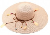 Z-A3.3 HAT504-040B Hat with Feathers Pink
