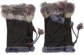 Z-F3.1 Hand Warmers with Fur Grey