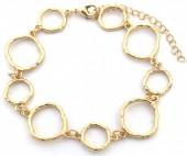 C-F20.2 B2019-005G Bracelet Circles Gold