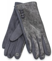 S-B3.1 GLOVE403-002E Gloves Shiny Snake Grey