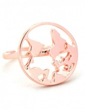 C-F17.2 R304-056 Ring World Map Rose Gold