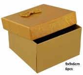 Y-F5.3 PK424-076 Giftbox for Watches 9x9x6cm Gold 6pcs