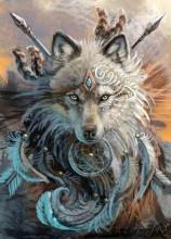 Q-M7.1 X3015 Diamond Painting Set Wolf 40x30cm