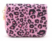 X-E2.2 WA321-002 Small Wallet with Leopard Print Pink