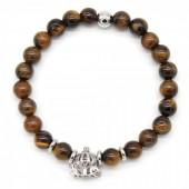 C-E5.4 B411-001 Unisex Bracelet Semi Precious Stones with Stainless Steel Bead