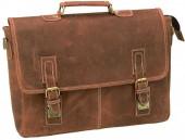 Y-E4.5 BAGI-014 Luxury Leather Vintage Cross Body Business Bag 42x35x9cm