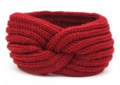 T-C6.1  H401-001K Knitted Headband Red