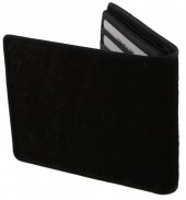 A-D15.1 Leather Wallet with Cowhide Black with Mixed Color Cowhide 9x11.5cm