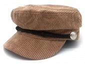 T-N6.1 HAT402-001 Sailor Cap Rib Fabric Brown