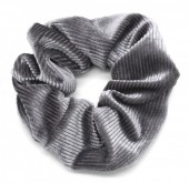 S-G5.2 H350-022G Rib Fabric Shiny Scrunchie Grey