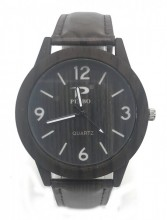 C-A20.2 W421-001A Quartz Watch Wood Look 40mm Dark Brown