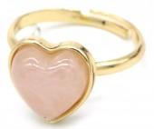 E-E16.3  R1934-009 Adjustable Ring Rose Quartz Gold