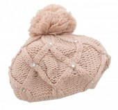 I-A5.1 Beanie with Crystals Pink