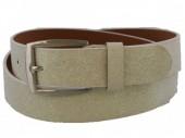 S-D8.1 PU Belt 110cm with Glitters Adjustable 85-110cm White