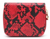 X-I2.2 WA321-001 Small Wallet Snakeskin Red