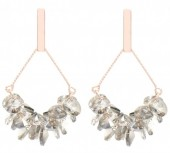 C-A9.3  E2019-009RG Earring with Faceted Glass Beads 5cm Rose Gold