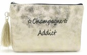 BAG520-001C Clutch With Tassel Champagne Addict 18.5x13cm Gold