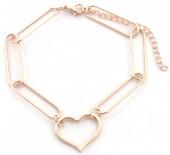 C-F6.1 B2019-006G Metal Bracelet Heart Gold