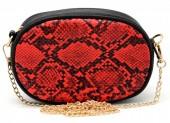 T-I3.2  BAG322-002 Festival Belt-Shoulder Bag incl Belt 19x12x7cm Red