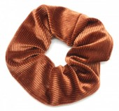S-F1.2 H350-022A Rib Fabric Shiny Scrunchie Rust