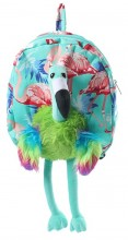 Y-E5.4 BAG416-003 Plush Backpack Flamingo Blue