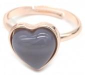 D-D7.5 R1934-009 Adjustable Ring Labrodorite Rose Gold