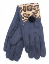 X-C2.1 GLOVE403-003A Gloves with Animal Print Blue