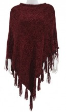 Y-D2.4 SCARF008-004G Scarf with Fringes Red