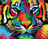 Y-D5.2 MS7502 Paint By Number Set Tiger 50x40cm