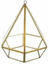 Z-D1.1 Luxury Metal with Glass Presentation Diamond 23x18cm