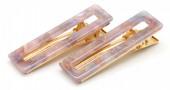 E-E9.2 H413-003 Hair Clip Set 2pcs Marble Purple