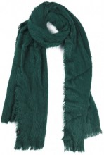 SCARF408-002A Soft Fluffy Scarf 65x180cm Green