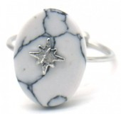 G-E2.3 R532-008S Adjustable Ring Marble with Northern Star Silver