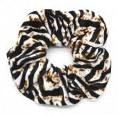 S-I3.2 H305-021E Velvet Scunchie with Animal Print