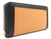 Q-L6.1 WA420-003 PU Wallet Two-Tone 19x10cm Black-Orange