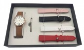 W425-001 Giftbox with Quartz Watch and 4 Straps