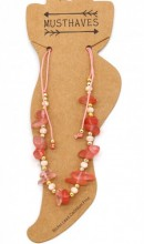 C-D15.1 ANK221-017B Anklet with Stones Pink