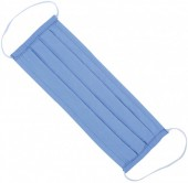 S-F6.4 Fashion Mask - 2 Layers - Cotton - Machine Washable - Individually Packed - Blue