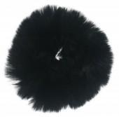 S-A2.4  H414-004B Fluffy Scrunchie Black