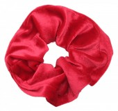 S-E3.5 H305-009 Scrunchie Velvet Red