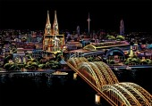 R-M7.2 Scratch Painting - Cologne Cathedral  - 40x28cm