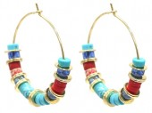 B-B5.1 E2019-040G Earring with Stones 3cm Gold