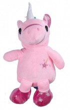 Y-B3.5 BAG416-004B Plush Backpack Unicorn Pink 40x18 cm