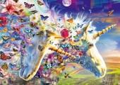 R-J3.2 Diamond Painting Set Y0447 Unicorns  Round Stones 50x40cm