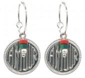 E-A16.5 E2019-037S Earrings AMOUR 1.5x3cm Silver