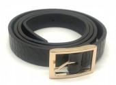 S-K3.3  BELT418-001A PU Croco Belt Black L