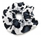 S-D3.1  H305-021F Velvet Scunchie with Animal Print Grey