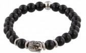 B-D6.2 S. Steel Bracelet with Semi Precious Stones Black