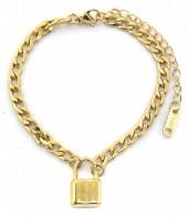 F-B4.2 BN2033-020AG S. Steel Bracelet with 16mm Lock Gold